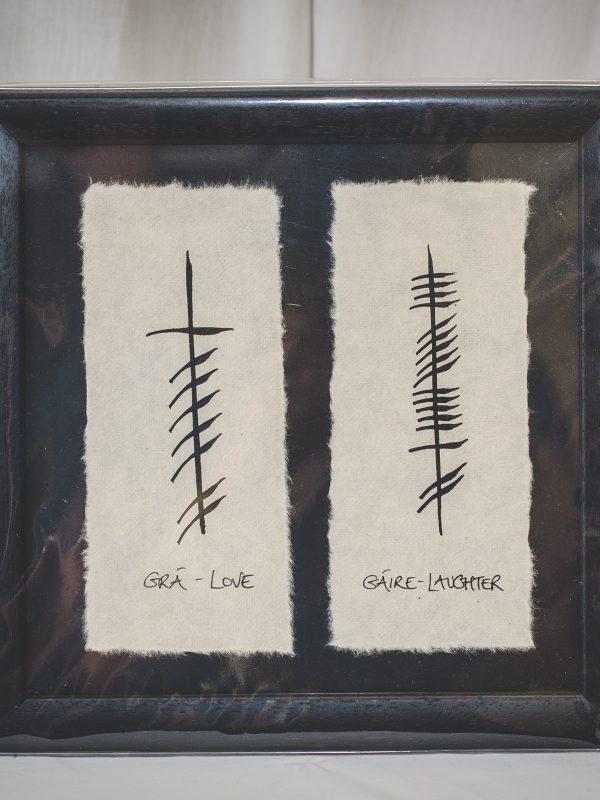 Framed Ogham Gift